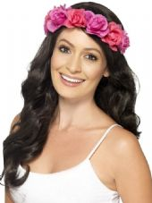 Hawaiian Pink Flower Headband